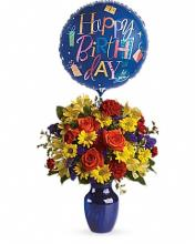 Blue Beauty Birthday Bouquet